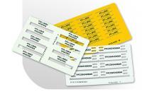 Partex PFC karty se štítky